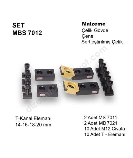 Hızlı Bağlama Sistemi SET MBS-7012 MİKSAN