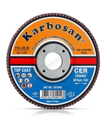 Seramik Flap Disk Zımpara -KARBOSAN