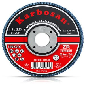 Zirkonyum Inox Flap Disk Zımpara -KARBOSAN